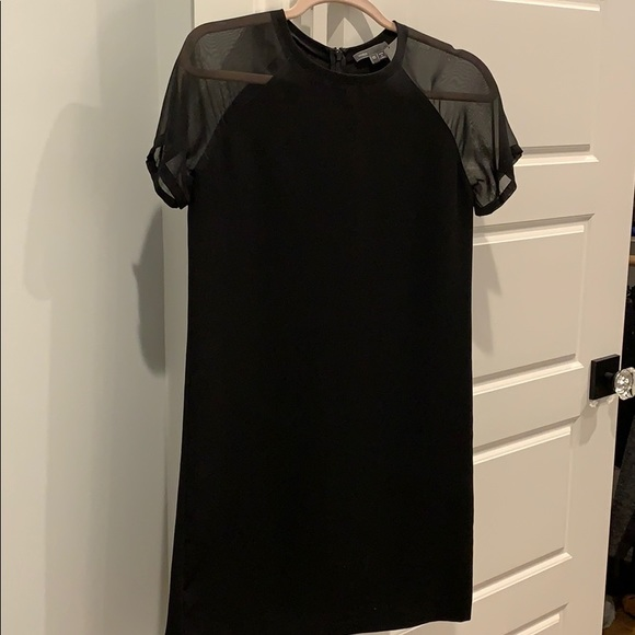 Vince Dresses & Skirts - Vince LBD Dress with sheer sleeves, Size xs